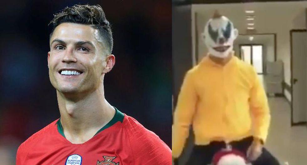Cristiano Ronaldo presentó un terrorífico disfraz por Halloween. (Foto: agencias / captura)