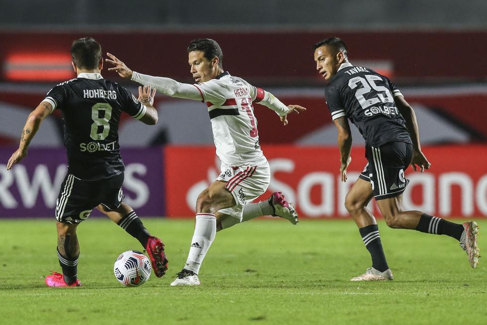 Cristal vs. Sao Paulo se enfrentaron por Copa Libertadores. Foto: AFP