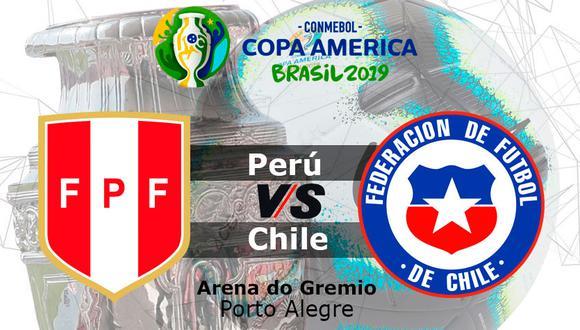 La selección peruana enfrenta a Chile hoy desde las 19:30 horas en el Arena do Gremio de Porto Alegre.
