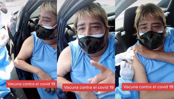 José Abelardo Gutiérrez Alanya, 'Tongo', recibió la vacuna contra el COVID-19. (Foto: Captura de video)