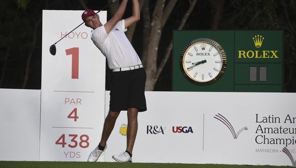 Patrick Sparks, golfista peruano que jugó en el Latin America Amateur Championship. (Foto: Enrique Berardi / LAAC)