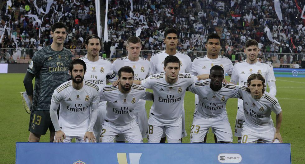 Real Madrid enfrentó al Atlético de Madrid por la Supercopa de España 2020 | Foto: Agencias