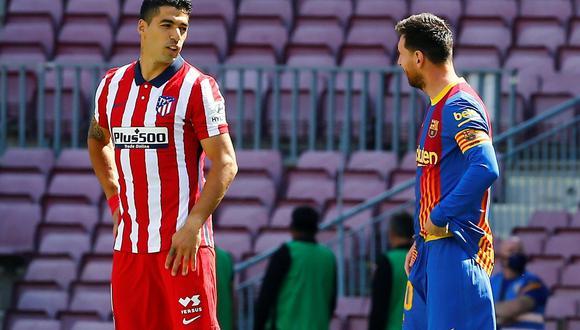 Luis Suárez y Lionel Messi se reencontraron en el Camp Nou por LaLiga. (Foto: EFE)
