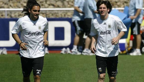 Juan Pablo Sorín y Lio Messi jugaron juntos por la Albiceleste el Mundial 2006.