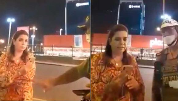 Milagros Leiva fue detenida el jueves 19 de marzo en San Isidro en plena cuarentena (Foto: Twitter)