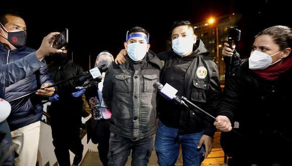 Job Luque Ayala cuando fue detenido por la Policía al estar involucrado en el caso de la discoteca Thomas Bar. (César Bueno/GEC)