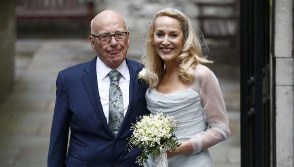 Músicos y famosos celebran la boda de Rupert Murdoch y Hall