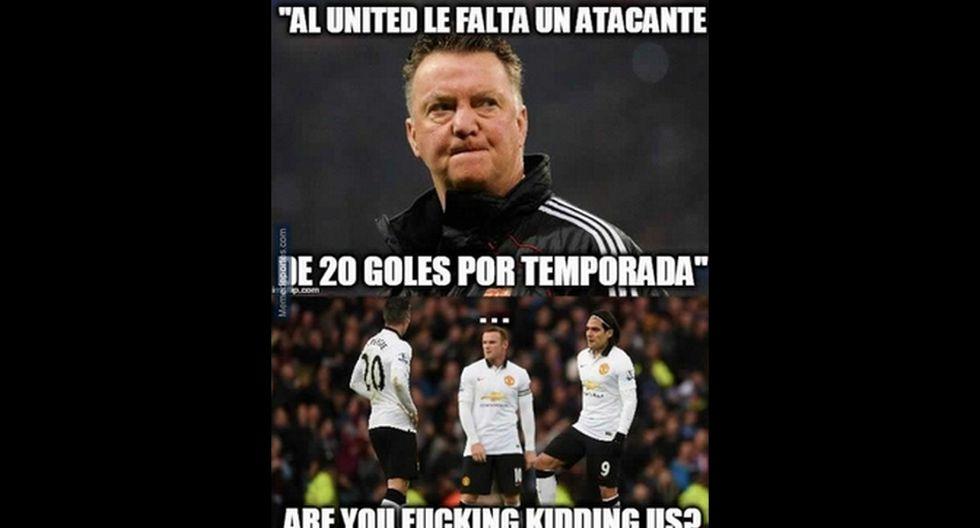 Manchester United: memes contra Van Gaal por sentar a Falcao - 12