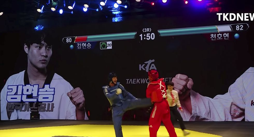 A la Asociación de Taekwondo de Corea del Sur se le ha ocurrido un sistema que se asemeja al de los videojuegos como Tekken. (YouTube)