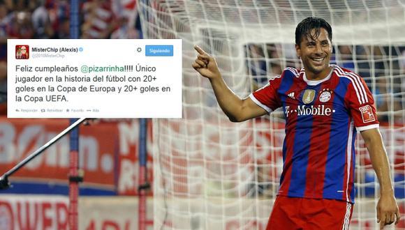 Pizarro recibe saludo de cumpleaños del estadístico Mister Chip