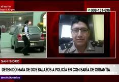 San Isidro: detenido mata a balazos a policía en comisaría de Orrantia