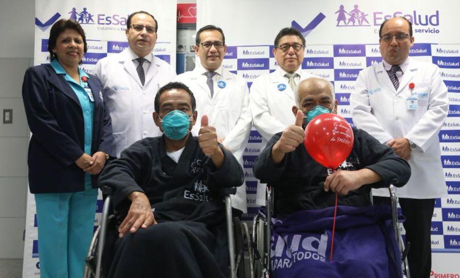 Pacientes beneficiados con trasplantes son José Martín Mendoza Rojas (70 años) y José Luis Rojas Soto (53 años)