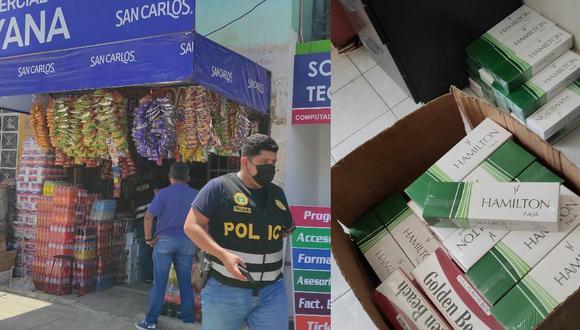 Se presume que los cigarrillos sean de procedencia paraguaya y que ingresaron al país por la frontera con Bolivia. Tenían como destino final el país ecuatoriano (Foto: PNP)
