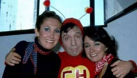 Florinda Meza junto a Roberto Gómez Bolaños y María Antonieta de las Nieves, en una foto del recuerdo.