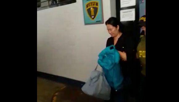 Keiko Fujimori fue trasladada por personal del INPE al penal de Chorrillos. (Captura: El Comercio)