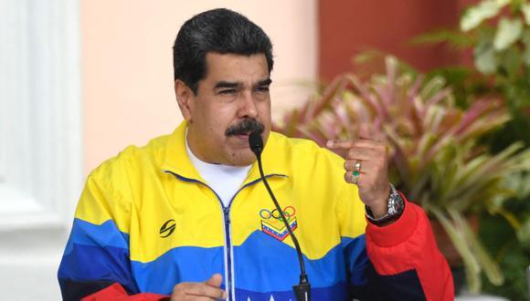 Nicolás Maduro habla durante una reunión para conmemorar el Día Internacional de la Juventud en el Palacio Presidencial de Miraflores en Caracas. (Foto: Federico Parra / AFP)