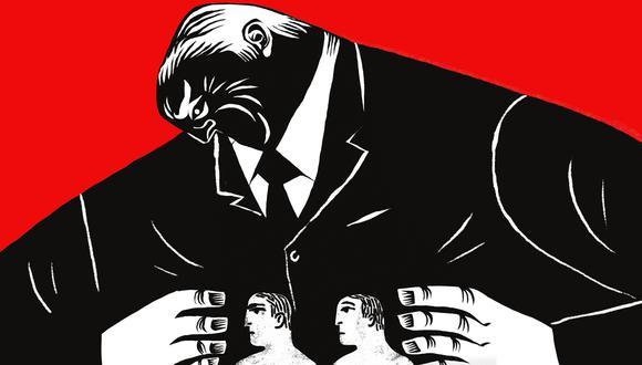 """""""Debe quedar totalmente claro que mano dura sin institucionalidad democrática es solo un pretexto para justificar el autoritarismo y la dictadura"""".(Ilustración: Víctor Aguilar)"""