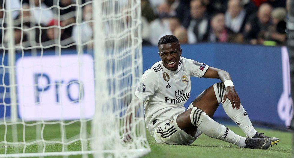 Real Madrid vs. Ajax: Vinicius Júnior y su desgarrador llanto tras ser cambiado por lesión. (Foto: EFE)