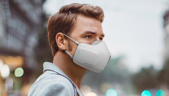 Así lucirá la mascarilla electrónica que promete purificar el aire. (Foto: LG)