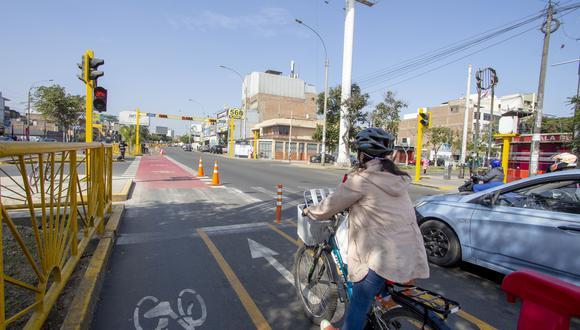 La vía beneficia a los ciclistas de los distritos de Lince, La Victoria, San Luis y San Borja. (Foto: MML)