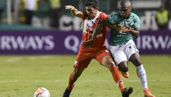 Deportivo Cali y  River Plate se enfrentaron en Paraguay por la Sudamericana 2020. (Foto: Agencias)