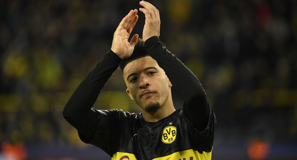 """Jadon Sancho (Dortmund): """"Su habilidad para regatear a los defensores anteriores es impresionante"""". (Foto: AFP)"""