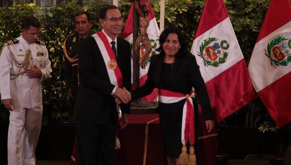 La ministra Flor Pablo está citada para las 9:30 de la mañana . (Foto: Hugo Pérez / GEC)