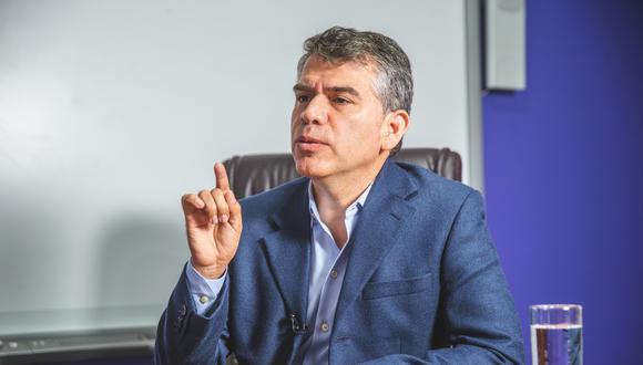 """""""El Partido Morado se ha quedado para ser una institución que trascienda las personas. El partido es más importante que Julio Guzmán"""", indicó el excandidato presidencial. (Foto: GEC)"""
