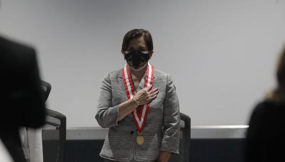 La presidenta del JNJ, Inés Tello, juró al cargo este miércoles. (Fotos: Renzo Salazar / @photo.gec)