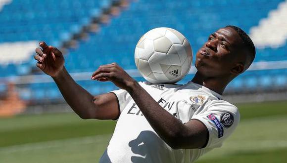 Real Madrid, de la mano de Julen Lopetegui, busca su mejor tridente ofensivo para la temporada 2018-19. Vinicius Junior es parte del renovado ataque del conjunto merengue (Foto: AFP)