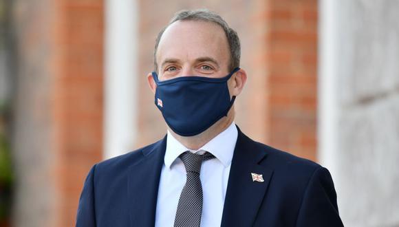 El ministro de Exteriores del Reino Unido Dominic Raab. (Foto: JUSTIN TALLIS / POOL / AFP).