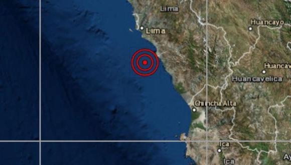 El sismo se produjo en a las 4.58 a.m. en  Ancón.