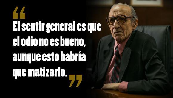 """""""El ojo de Lima"""" es la columna que Marco Aurelio Denegri escribe semanalmente en """"El Comercio"""". (Foto: Víctor Idrogo)"""