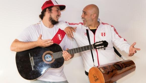 """Marco Romero y Gonzalo Calmet unieron sus voces en el tema """"Vamos Perú"""" . (Foto: Difusión / Séfora Ambulodegui )"""