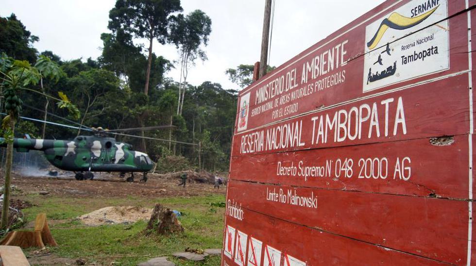 a Reserva Nacional Tambopata está ubicada al sur del río Madre de Dios en los distritos de Tambopata e Inambari de la provincia de Tambopata, departamento de Madre de Dios; y su extensión es de 274 690.00 hectáreas. (Foto: Ser