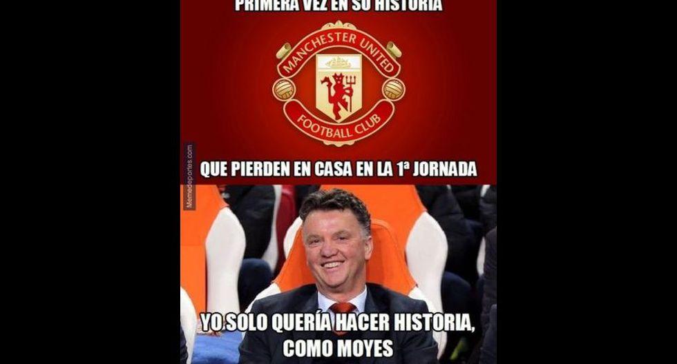 Van Gaal es víctima de memes por debut con derrota en el United - 8