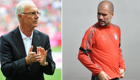 """Franz Beckenbauer: """"Sería el más feliz si renueva Guardiola"""""""