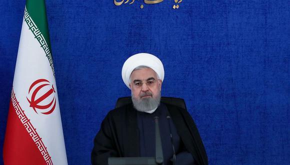 """El presidente de Irán, Hassan Rouhani, acusa al """"mercenario"""" Israel del asesinato del destacado científico Mohsen Fakhrizadeh y promete venganza. (AFP)."""