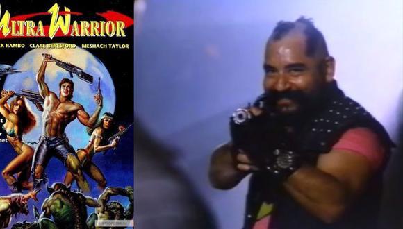 """Ramón García, con look a lo Mario Baracus, es uno de los actores de la cinta """"Ultra Warrior""""."""