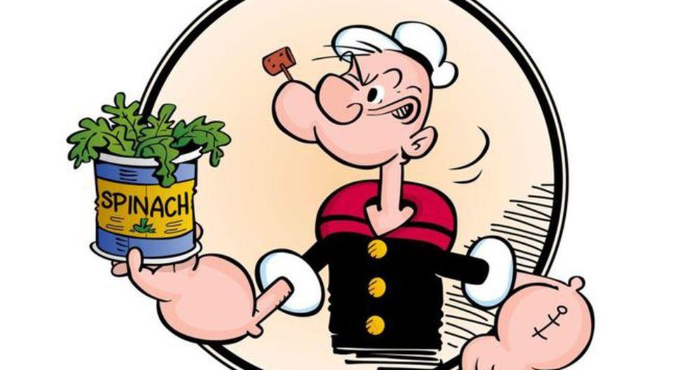 Popeye aumentó la venta de espinacas en cerca de un 30% en Estados Unidos. (Foto: Alamy)
