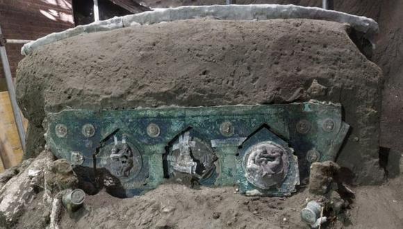 Pompeya: Los expertos creen que la carroza fue utilizada en ceremonias como bodas. (EPA).