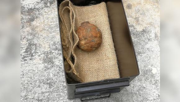 El artefacto de la I Guerra Mundial, hallado el sábado en la planta Calbee Snacks, fue neutralizada sin problemas. (Foto: AFP)