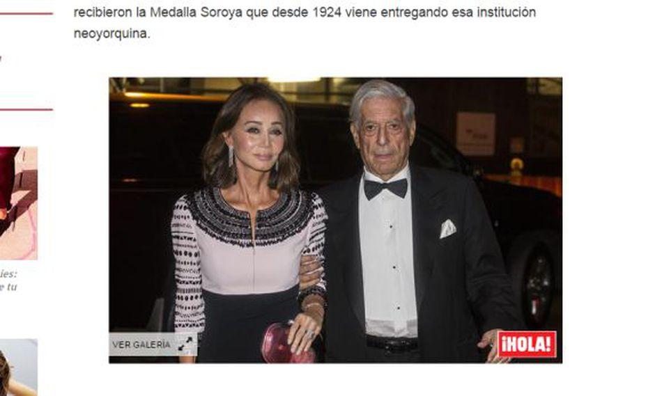 Mario Vargas Llosa acude con Isabel Preysler a homenaje en NY