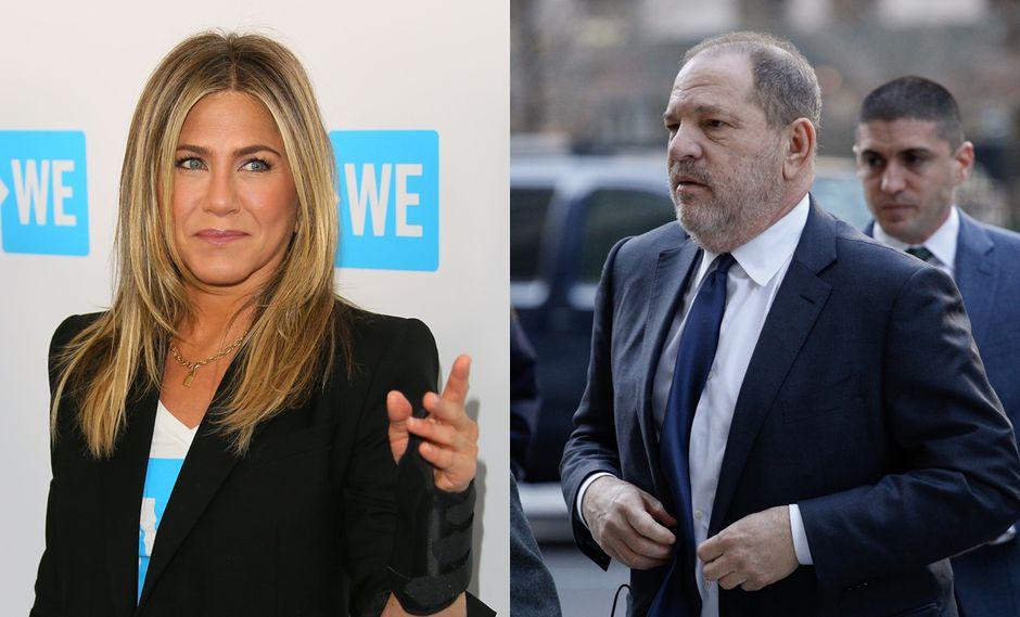 Jennifer Aniston y Harvey Weinstein. (Foto: Agencias)