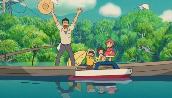 """Escena de """"Ponyo"""" en el acantilado. (Foto: Studio Ghibli)"""