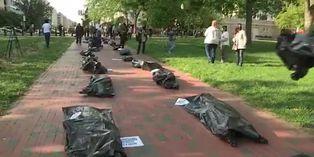 Coronavirus Estados Unidos: masivo cortejo fúnebre a la Casa Blanca en protesta por manejo de COVID-19