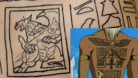 Así fue como quedó el tatuaje de esta persona de 'Marik Ishtar', uno de los personajes más icónicos de todo el anime de Yu-Gi-Oh. (Foto: Twitter)
