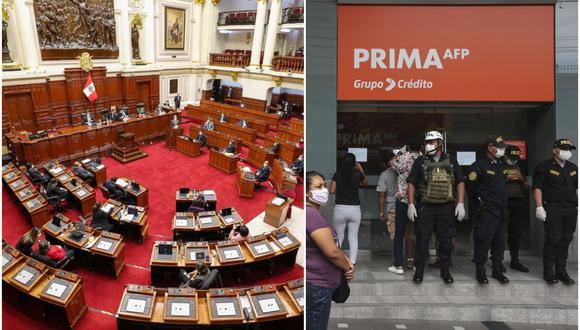 Congreso aprueba ley que permite el retiro de fondos previsionales. (Foto: Composición)