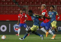 Chile dejó escapar un triunfo sobre el final ante Colombia por Eliminatorias Qatar 2022
