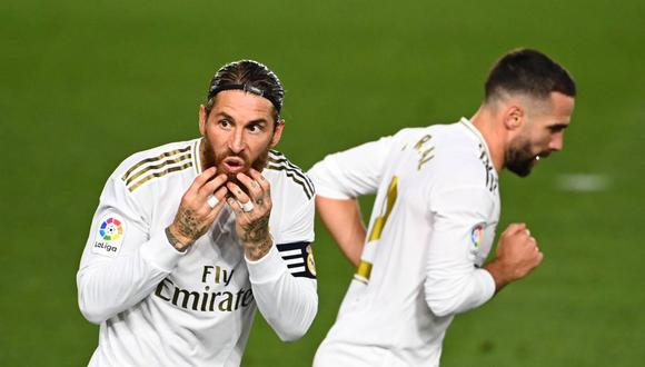 Sergio Ramos habló sobre la acción polémica en la victoria del Real Madrid. (Foto: AFP)
